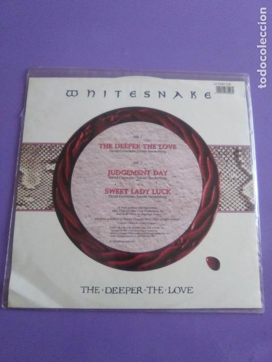 Discos de vinilo: JOYA. SPECIAL LTD EDITION 12´´ WHITESNAKE.THE DDEPER THE LOVE/JUDGEMENT DAY/SWEET LADY LUCK.EMI 1990 - Foto 4 - 236955635