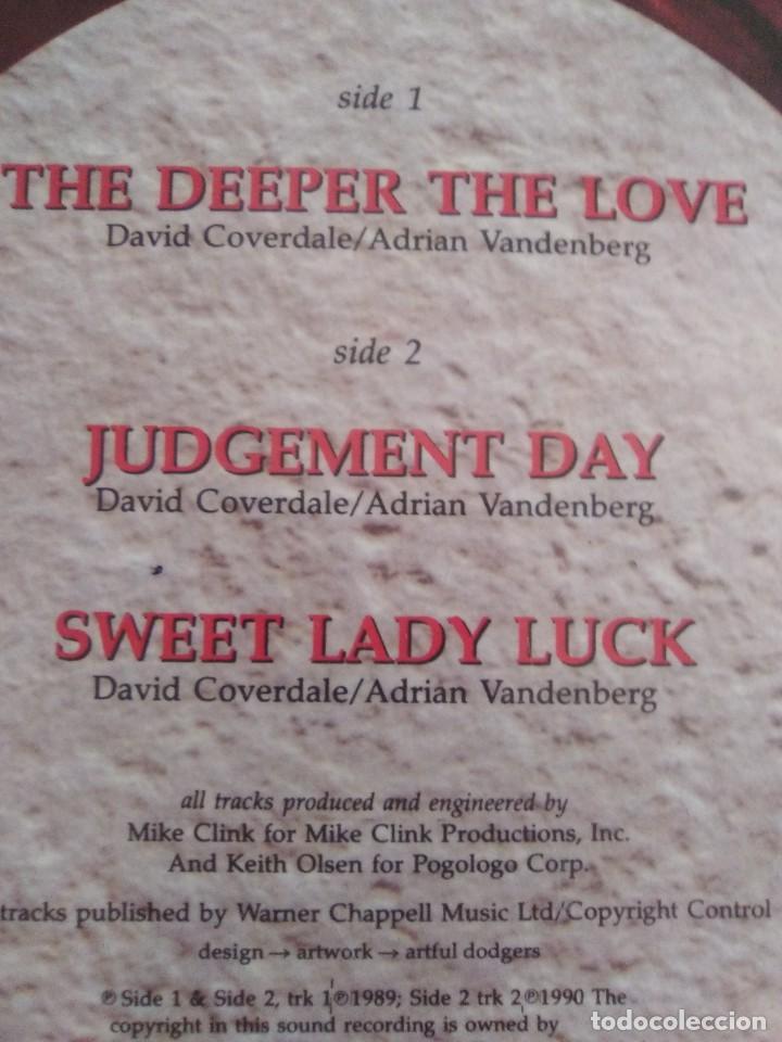 Discos de vinilo: JOYA. SPECIAL LTD EDITION 12´´ WHITESNAKE.THE DDEPER THE LOVE/JUDGEMENT DAY/SWEET LADY LUCK.EMI 1990 - Foto 6 - 236955635
