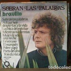 Discos de vinilo: BRAULIO - SOBRAN LAS PALABRAS - EUROVISION 1976 ESPAÑA SPAIN. Lote 204618635