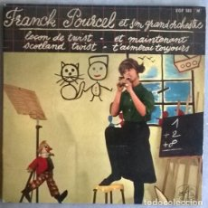Discos de vinilo: FRANCK POURCEL. LEÇON DE TWIST/ ET MAINTENANT/ SCOTLAND TWIST/ T'AIMERAI TOUJOURS VOIX DE SON MAITRE. Lote 204622661