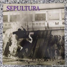 Discos de vinilo: SEPULTURA. REFUSE/RESIST. VINILO. Lote 204629780