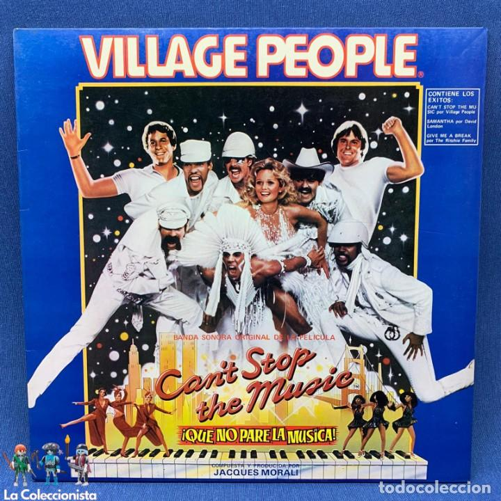Discos de vinilo: LP - VILLAGE PEOPLE - CAN´T STOP THE MUSIC - QUE NO PARE LA MÚSICA - ESPAÑA - AÑO 1980 - Foto 1 - 204646405