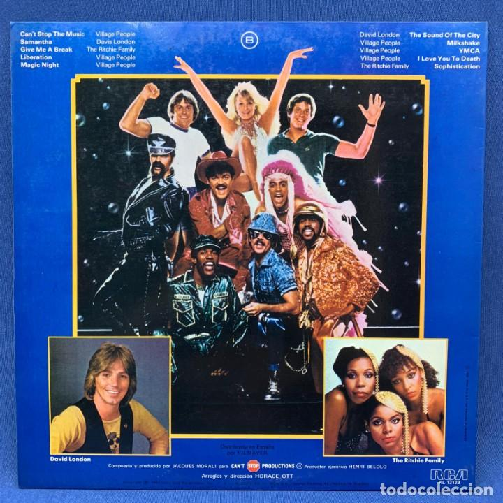Discos de vinilo: LP - VILLAGE PEOPLE - CAN´T STOP THE MUSIC - QUE NO PARE LA MÚSICA - ESPAÑA - AÑO 1980 - Foto 3 - 204646405