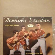 Discos de vinilo: DISCO SINGLE MANOLO ESCOBAR Y SUS GUITARRAS. Lote 204660472