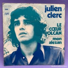 Discos de vinilo: SINGLE, JULIEN CLERC LE COEUR. Lote 204673342