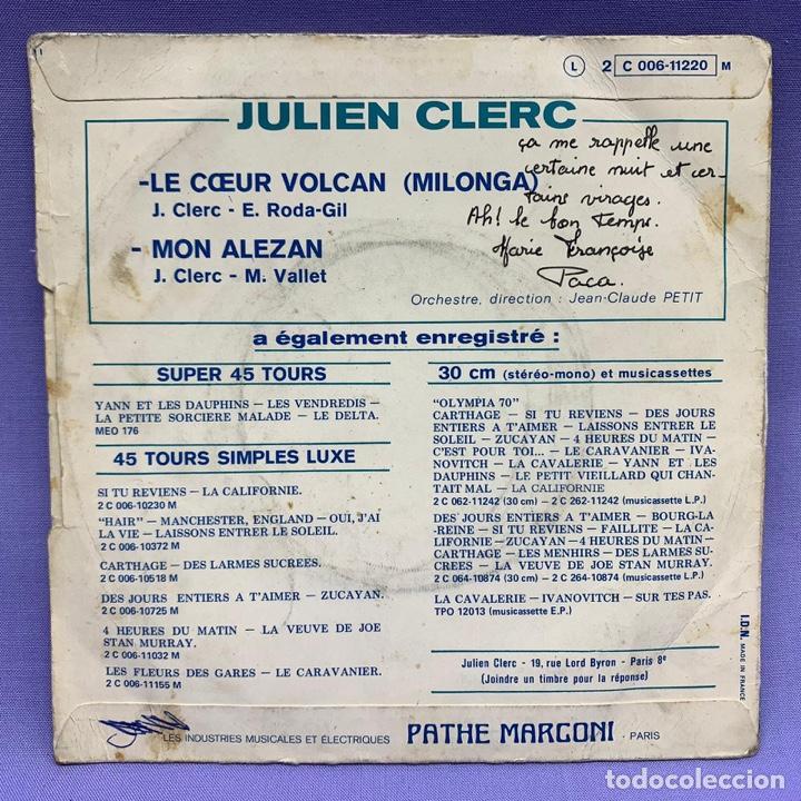 Discos de vinilo: SINGLE, JULIEN CLERC LE COEUR - Foto 3 - 204673342