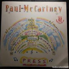 Discos de vinilo: PAUL MCCARTNEY - BEATLES - PRESS - MAXISINGLE - REINO UNIDO - 1986 - NO CORREOS. Lote 204677711