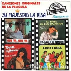 Discos de vinilo: SU MAJESTAD LA RISA (CANCIONES ORIGINALES DE LA PELÍCULA) - EP SPAIN 1981 (PARCHIS Y OTROS). Lote 204681698
