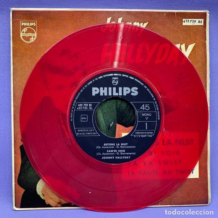Discos de vinilo: SINGLE, JHONNY HALLYDAY RETIENS LA NUT - Foto 2 - 204685606