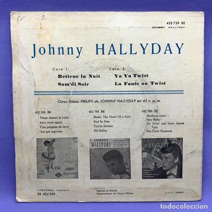 Discos de vinilo: SINGLE, JHONNY HALLYDAY RETIENS LA NUT - Foto 3 - 204685606