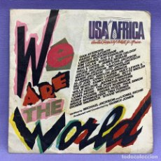 Discos de vinilo: SINGLE, USA FOR AFRICA UNITED SUPPORT ARTISTS OF AFRICA. Lote 204689357