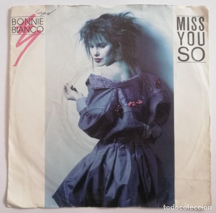 DISCO DE VINILO EP--BONNIE BIANCO--MISS YOU SO (Música - Discos de Vinilo - EPs - Pop - Rock - New Wave Extranjero de los 80)