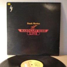 Discos de vinilo: FRANK MARINO, MAHOGANY RUSH LIVE VINILO LP. Lote 204708051