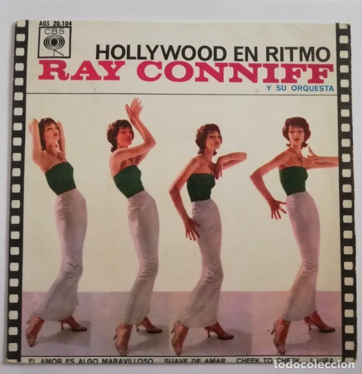 DISCO DE VINILO EP--RAY CONNIFF--HOLLYWOOD EN RITMO (Música - Discos de Vinilo - EPs - Jazz, Jazz-Rock, Blues y R&B)