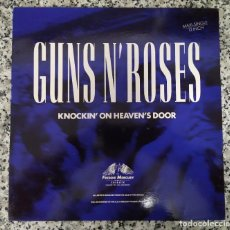 Discos de vinilo: GUNS N ROSES. KNOCKIN ON HEAVENS DOOR. VINILO. Lote 204730041