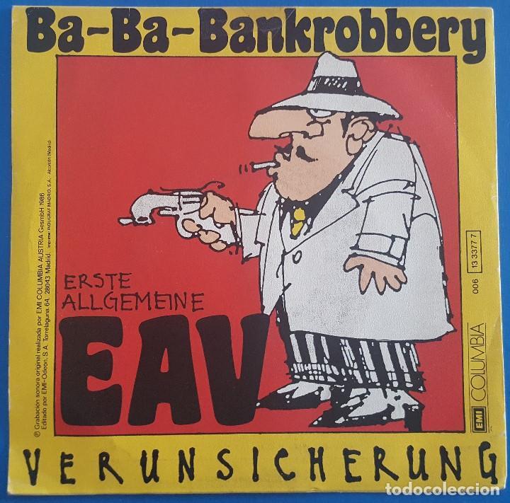 Discos de vinilo: SINGLE / Erste Allgemeine Verunsicherung / Ba-Ba-Bankrobbery / EMI 1986 - Foto 2 - 204730110