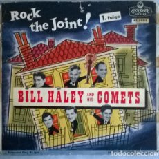 Discos de vinilo: BILLY HALEY & HIS COMETS. ROCK THE JOINT: FRACTURED/ GREEN TREE BOOGIE/ DANCE WITH A DOLLY/ JUKE BOX. Lote 204731302