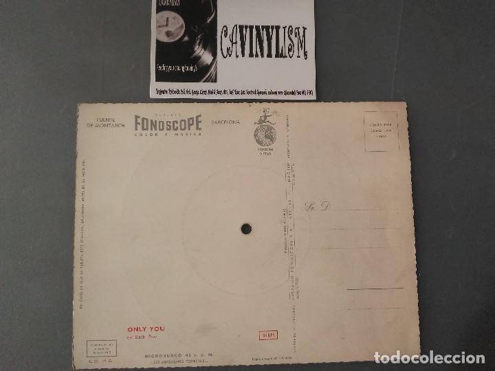 Discos de vinilo: ONLY YOU - BUCK RAM - POSTAL SONORA DE LA FUENTE DE MONJUICH - BARCELONA EN 1958 - Foto 2 - 204735550