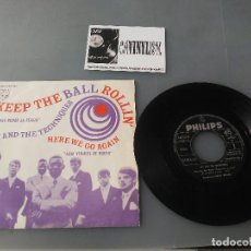 Discos de vinilo: JAY AND THE TECHNIQUES - KEEP THE BALL ROLLIN' (SINGLE) PHILIPS 320 268 BF.. Lote 204735731