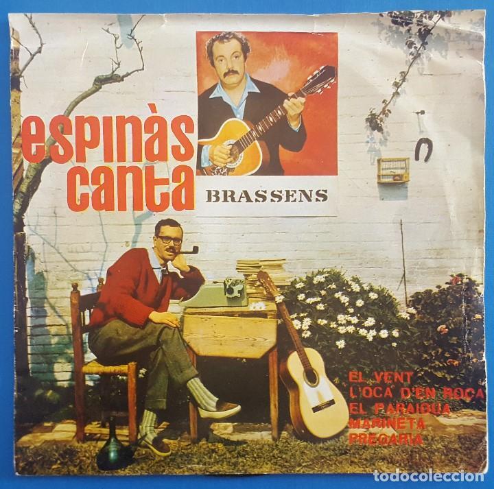 EP / JOSEP MARIA ESPINÀS ?– ESPINÀS CANTA BRASSENS / EL VENT - LOCA DEN ROCA +3 / EDIPHONE 1962 (Música - Discos de Vinilo - EPs - Solistas Españoles de los 50 y 60)
