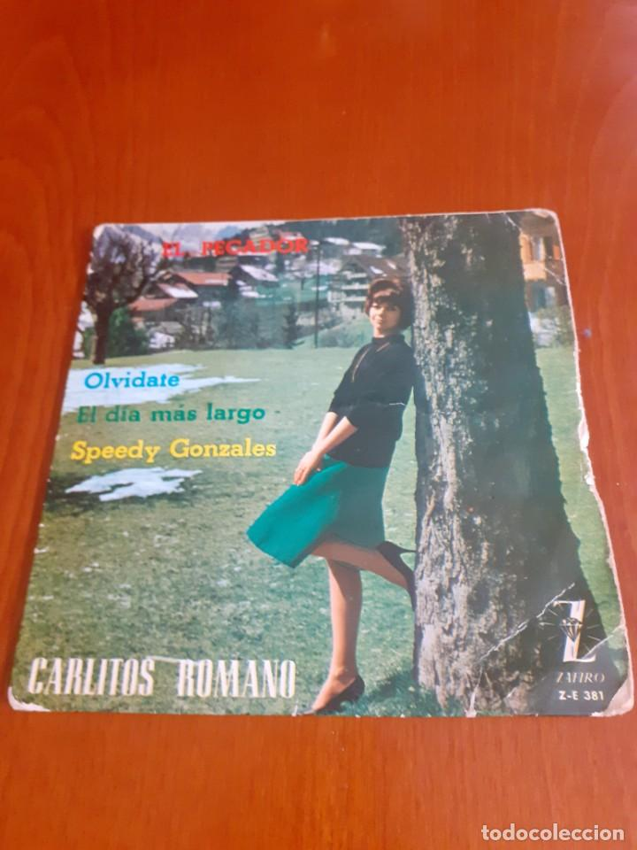 DISCO DE VINILO SINGLE DE CARLITOS ROMANO (Música - Discos de Vinilo - EPs - Grupos y Solistas de latinoamérica)