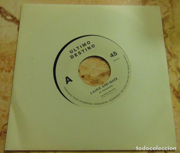 ULTIMO DESTINO – LOVE AND HATE - SINGLE SOLO UNA CARA 1992 - ELECTRONIC - DEPECHE MODE (Música - Discos - Singles Vinilo - Techno, Trance y House)