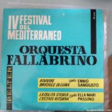Discos de vinilo: ORQUESTA FALLABRINO – IV FESTIVAL DEL MEDITERRÁNEO. Lote 204759658
