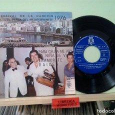 Dischi in vinile: LMV - ANTONIO LA TORRE. IV FESTIVAL DE LA CANCIÓN 'CEUTA PERLA DEL MEDITERRANEO' 1976. EP. Lote 204764953