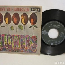 Discos de vinilo: THE ROLLING STONES - WE LOVE YOU / DANDELION - SINGLE - 1967 - SPAIN - VG/VG. Lote 204765681