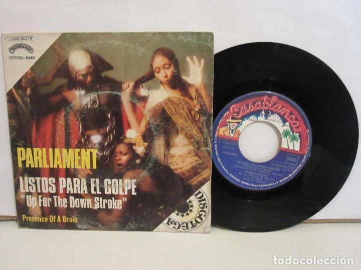 PARLIAMENT - LISTOS PARA EL GOLPE - SINGLE - 1975 - SPAIN - VG/VG (Música - Discos - Singles Vinilo - Funk, Soul y Black Music)