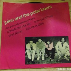 Discos de vinilo: JULES AND THE POLAR BEARS ‎– SOMETIMES REAL LIFE + 3 - EP PROMO USA 1980. Lote 204770312