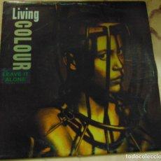 Discos de vinilo: LIVING COLOUR – LEAVE IT ALONE - SINGLE PROMO 1992. Lote 287938818