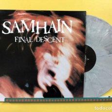 Discos de vinilo: SAMHAIN LP FINAL DESCENT VINILO COLOR MARMOL GRIS GLENN DANZIG MUY RARO COLECCIONISTA. Lote 204771412