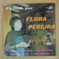 Discos de vinilo: FLORA PEREIRA - O TEMPO VOLTA PR'A TRAZ + 3 - EP. Lote 204772816