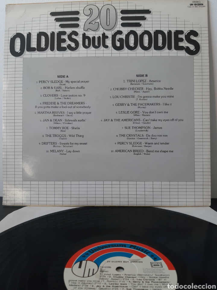 Discos de vinilo: RARO! OLDIES BUT GOODIES 20. VARIOS: CHUBBY CHECHER, TRINI LOPEZ, DRIFTERS, JAN &DEAN, THE CRISTAL,, - Foto 2 - 204793303