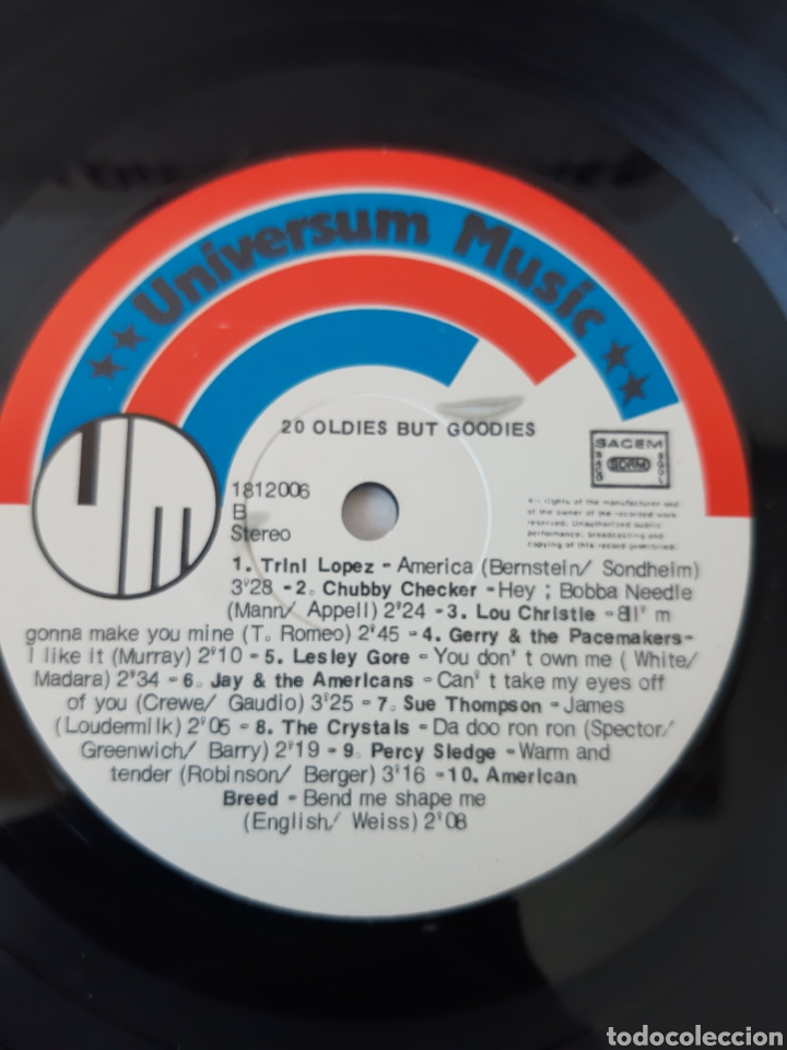 Discos de vinilo: RARO! OLDIES BUT GOODIES 20. VARIOS: CHUBBY CHECHER, TRINI LOPEZ, DRIFTERS, JAN &DEAN, THE CRISTAL,, - Foto 3 - 204793303