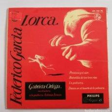 Discos de vinilo: DISCO DE VINILO EP--DANIELA ORTEGA (RECITADORA)--FEDERICO GARCIA LORCA. Lote 204804437