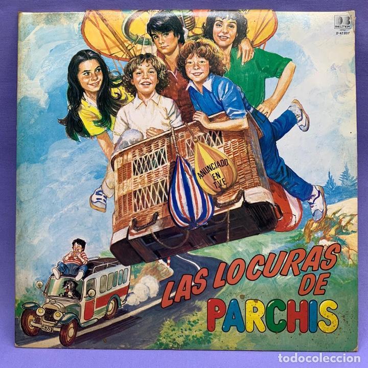 VINILO LP PARCHIS LAS LOCURAS DEL PARCHIS VG++ ESPAÑA 1982- VINILO AMARILLO (Música - Discos - LPs Vinilo - Música Infantil)