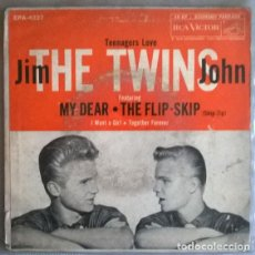 Discos de vinilo: JIM & JHON THE TWINS. TEENAGERS LOVE: MY DEAR/ FLIP-SKIP/ I WANT A GIRL/ TOGETHER FOREVER. RCA USA. Lote 204838328