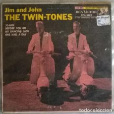 Discos de vinilo: JIM AND JOHN THE TWIN-TONES. JO-ANN/ BEFORE YOU GO/ MY DANCING LADY/ ONE MAIL A DAY. RCA USA 1958 EP. Lote 204838671