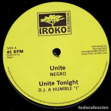 "Discos de vinilo: NEGRO / DJ A HUMBLE ""I""* / SHEER GOLD - UNITE / UNITE TONIGHT / BLACK DRAGON - 12'' [IROKO, 2012]. Lote 204838915"