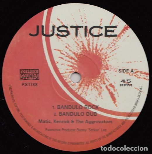 MATIC, KENRICK & THE AGGROVATORS - BANDULO ROCK - 10'' [JUSTICE / PRESSURE SOUNDS, 2019] (Música - Discos de Vinilo - EPs - Reggae - Ska)