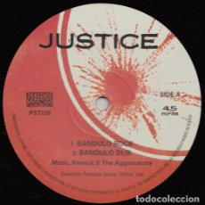 Discos de vinilo: MATIC, KENRICK & THE AGGROVATORS - BANDULO ROCK - 10'' [JUSTICE / PRESSURE SOUNDS, 2019]. Lote 204840735