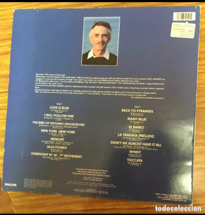 Discos de vinilo: Paul mauriat, Love is blue - Foto 2 - 204841360