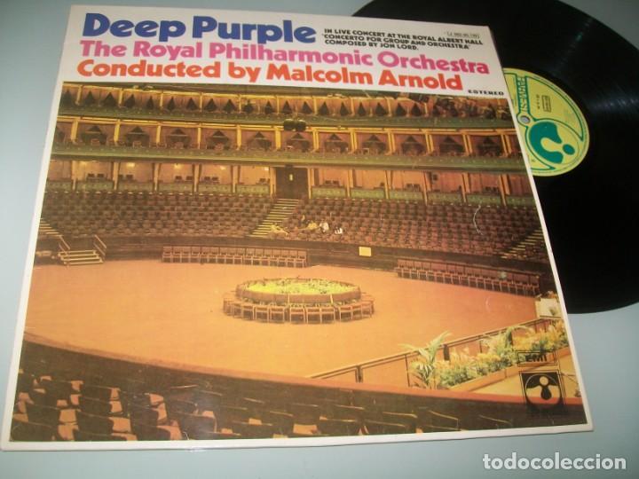 DEEP PURPLE - THE ROYAL PHILARMONIC ORCHESTRA - LIVE CONCERT ..LP HARVEST - SPAIN 1971 (Música - Discos - LP Vinilo - Pop - Rock - Extranjero de los 70)