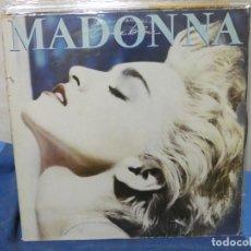 Discos de vinilo: LP MADONNA TRUE BLUE ACUSA PEQUEÑAS SEÑALES DE USO NUMEROSAS Y LOMO ALGO TOCADO FUNCIONAL. Lote 204850577