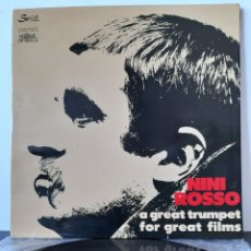 Discos de vinilo: NINI ROSSO. A GREAT TRUMPET FOR GREAT FILMS. ITALY. JAZZ-POP. Lote 204978651