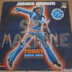 Discos de vinilo: DISCO VINILO JAMES BROWN SEX MACHINE TODAY DISCO SOUL DANCE AÑO 1975. Lote 204980961