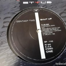 Discos de vinilo: MAXI SINGLE - CONTACT TWO - SHUT UP - MADE IN ITALY - CONTACT TWO. Lote 204990726