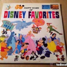 Discos de vinilo: DISNEY FAVORITES - 50 YEARS 1923-1973 - DOS DISCOS USA- LP- MUY BIEN CONSERVADO. Lote 204992023